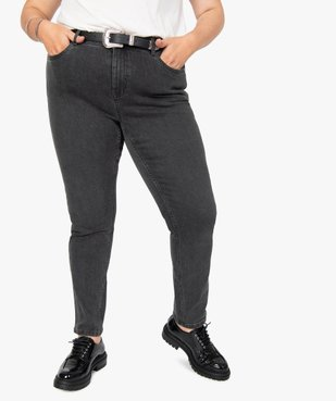 Jean femme straight stretch à taille réglable vue1 - GEMO (G TAILLE) - GEMO