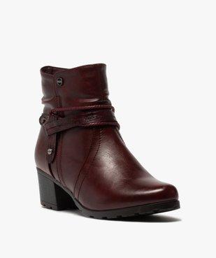 Boots femme à talon doublure douce et brides fantaisie vue2 - GEMO(URBAIN) - GEMO
