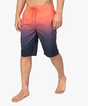 Short de bain homme multicolore dégradé vue1 - GEMO (PLAGE) - GEMO