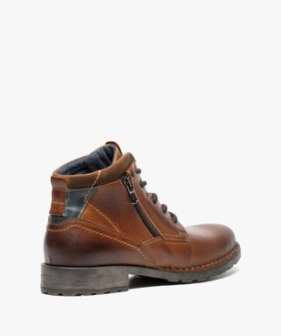Boots homme style workwear vue4 - GEMO (CASUAL) - GEMO