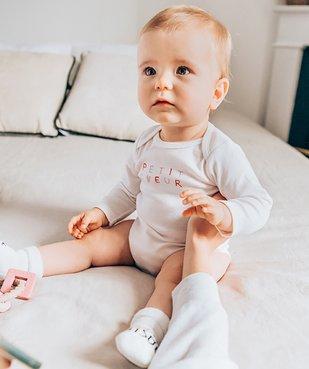 Body bébé à manches longues imprimé cœurs  (lot de 3) vue7 - GEMO C4G BEBE - GEMO