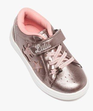 Tennis fille métallisées à lacets et scratch – Lulu Castagnette vue5 - LULU CASTAGNETT - Nikesneakers