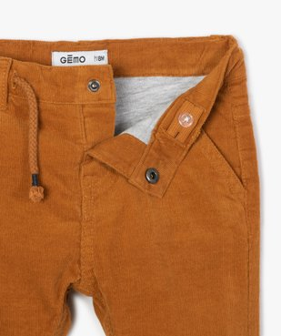 Pantalon bébé garçon en velours doublé jersey vue2 - GEMO(BEBE DEBT) - GEMO