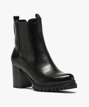 Boots femme à talon carré et tige unie – Tom Tailor vue2 - TOM TAILOR - GEMO