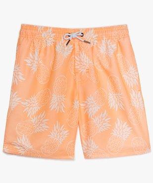 Short de bain garçon fluo à motif ananas vue1 - GEMO (JUNIOR) - GEMO