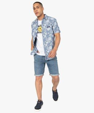 Bermuda homme en jean avec ceinture - Roadsign vue4 - ROADSIGN - GEMO