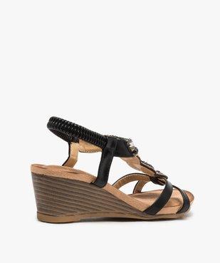 Sandales femme à talon et brides élastiques dessus perles vue4 - GEMO(URBAIN) - GEMO