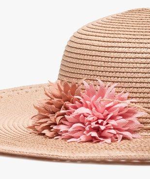 Chapeau femme forme capeline avec fleurs en relief vue2 - GEMO (ACCESS) - GEMO