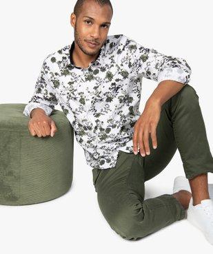 Chemise homme fleurie à manches longues repassage facile vue1 - GEMO (HOMME) - GEMO