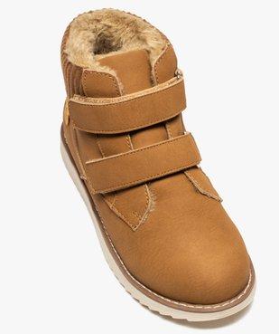 Boots garçon unis à col rembourré et fermeture scratch vue5 - GEMO (ENFANT) - GEMO