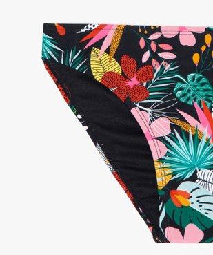 Bas de maillot de bain fille à motifs fleuris vue2 - GEMO (JUNIOR) - GEMO
