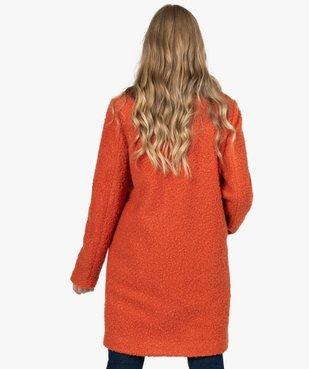 Manteau femme mi-long en maille bouclette vue3 - Nikesneakers(FEMME PAP) - Nikesneakers