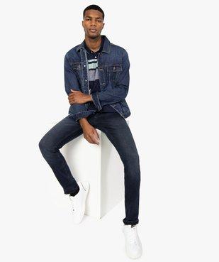 Blouson homme en jean coupe droite vue6 - GEMO (HOMME) - GEMO