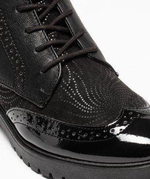 Boots femme unies dessus verni et bout golf perforé vue6 - GEMO (CASUAL) - GEMO