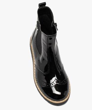 Boots fille chelsea vernies et zippées – LuluCastagnette vue5 - LULU CASTAGNETT - GEMO