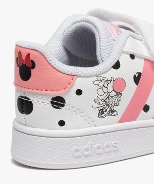 Tennis fille à scratch imprimées Minnie - Adidas vue6 - ADIDAS - GEMO