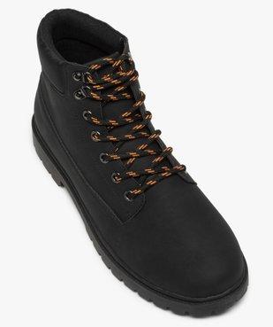 Boots homme à semelle crantée et lacets - Les Supaires à lacets bicolores vue5 - GEMO (CASUAL) - GEMO