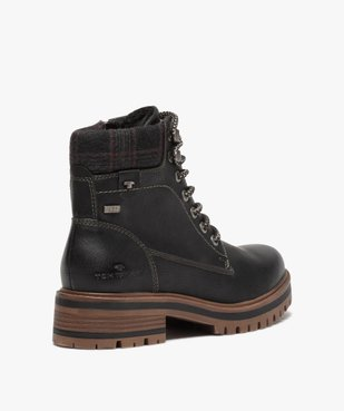 Boots femme à semelle crantée – Tom Tailor vue4 - TOM TAILOR - GEMO