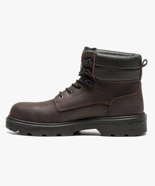 Chaussures hautes de sécurité avec semelle antistatique et résistante aux huiles vue3 - GEMO (SECURITE) - GEMO