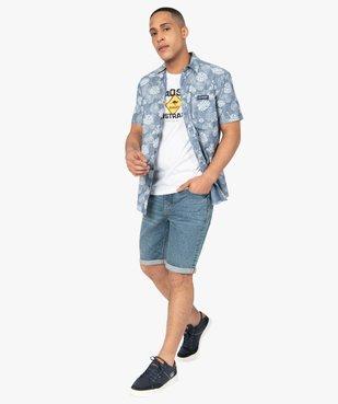 Tee-shirt homme à manches courtes imprimé - Roadsign vue5 - ROADSIGN - GEMO