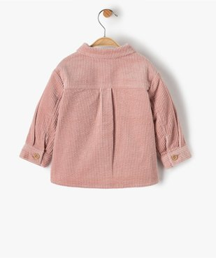 Chemise bébé fille en velours à grosses côtes vue3 - GEMO(BEBE DEBT) - GEMO