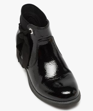 Boots fille unis tige vernie et ruban décoratif vue5 - Nikesneakers (ENFANT) - Nikesneakers
