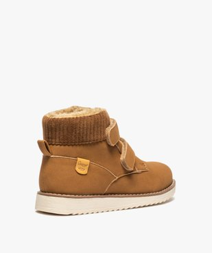 Boots garçon unis à col rembourré et doublure chaude vue4 - Nikesneakers (ENFANT) - Nikesneakers