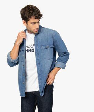 Tee-shirt homme avec inscription contrastante sur l'avant vue5 - GEMO (HOMME) - GEMO
