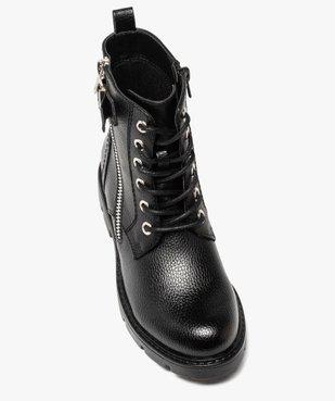Boots fille à lacets style rock fermeture zippée vue5 - GEMO (ENFANT) - GEMO