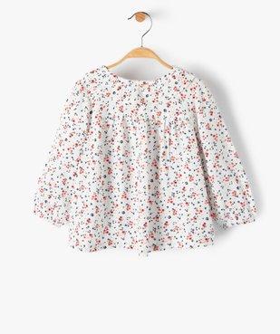 Blouse bébé fille à motifs fleuris et rayures pailletées – Lulu Castagnette vue2 - LULUCASTAGNETTE - GEMO
