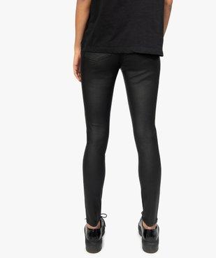 Pantalon femme coupe skinny taille haute en toile enduite vue3 - GEMO(FEMME PAP) - GEMO