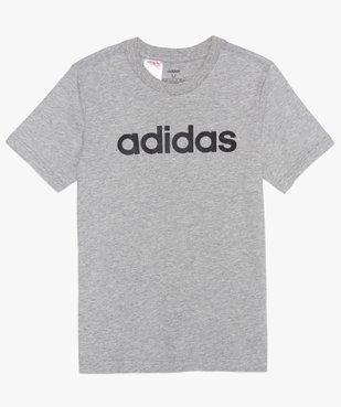 Tee-shirt garçon chiné à manches courtes et logo poitrine - Adidas vue1 - ADIDAS - GEMO