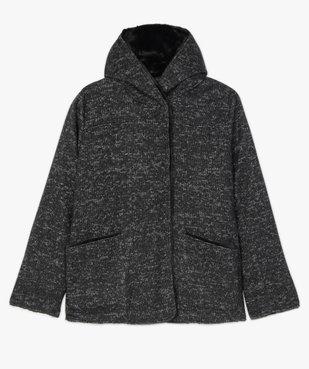 Manteau femme en maille bouclette et détails duveteux vue4 - GEMO (G TAILLE) - GEMO