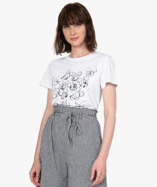 Tee-shirt femme à manches courtes motif Mickey - Disney vue1 - DISNEY DTR - GEMO