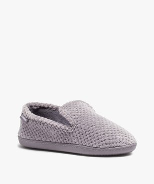 Chaussons femme forme charentaise - Isotoner vue2 - ISOTONER - GEMO
