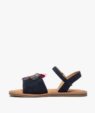 Sandales fille en cuir avec perroquet brodé vue3 - GEMO (ENFANT) - GEMO