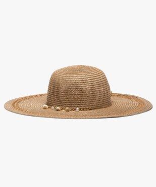 Chapeau femme forme capeline en paille et fil lurex vue1 - GEMO (ACCESS) - GEMO