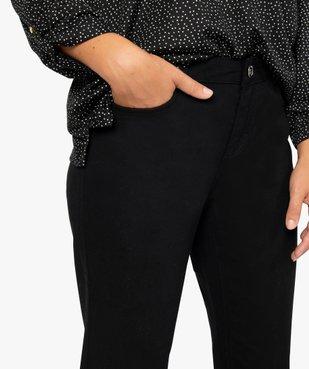 Jean femme en toile unie 4 poches coupe Regular - Longueur L30 vue2 - GEMO (JEAN) - GEMO