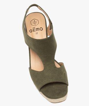 Sandales femme unies à talon compensé dessus couvrant vue5 - GEMO(URBAIN) - GEMO