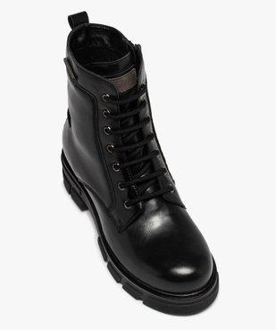 Boots femme unies à talon large et semelle crantée vue5 - Nikesneakers (CASUAL) - Nikesneakers