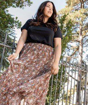 Jupe longue femme à motifs fleuris avec taille élastiquée vue6 - GEMO (G TAILLE) - GEMO