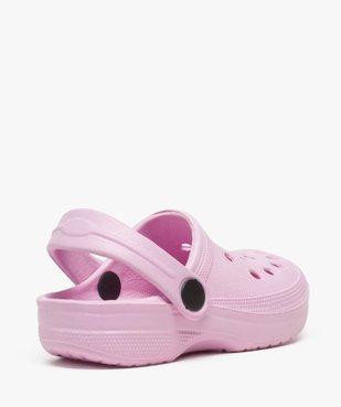 Sabots fille unis perforés avec bride vue4 - Nikesneakers (ENFANT) - Nikesneakers