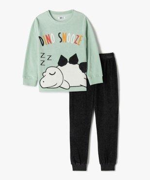 Pyjama garçon bicolore en velours avec motif dinosaure vue1 - GEMO (ENFANT) - GEMO