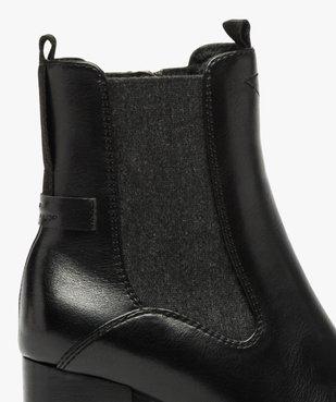 Boots femme à talon carré et tige unie – Tom Tailor vue6 - TOM TAILOR - GEMO
