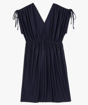 Robe femme courte effet drapé à manches modulables vue4 - GEMO (G TAILLE) - GEMO