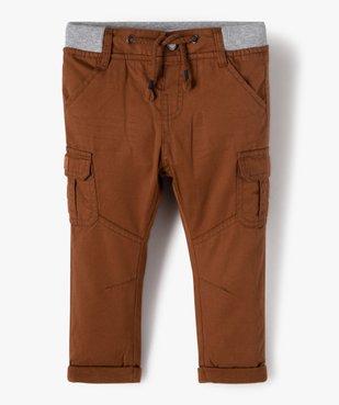 Pantalon bébé garçon coupe battle à revers et taille élastiquée vue1 - Nikesneakers(BEBE DEBT) - Nikesneakers
