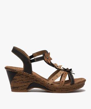 Sandales femme à talon compensé extra légères vue1 - GEMO(URBAIN) - GEMO