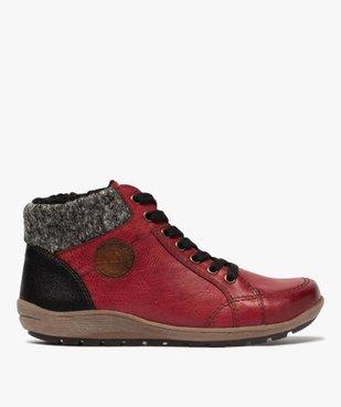 Boots femme à lacets et zip col en maille – Softrelax vue1 - SOFTRELAX - GEMO