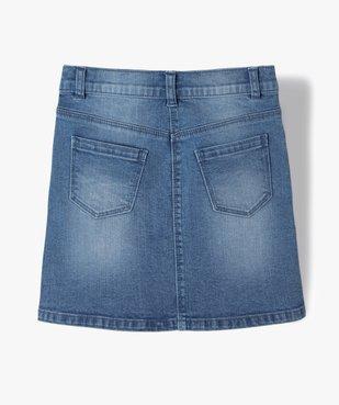 Jupe en jean fille légèrement extensible vue4 - GEMO (ENFANT) - GEMO