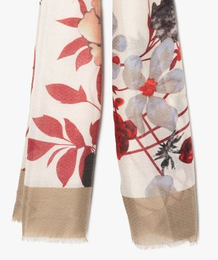 Foulard femme à grosses fleurs et petites franges vue2 - Nikesneakers (ACCESS) - Nikesneakers